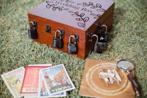 une boite d escpae game pour mariage avec des cadenas